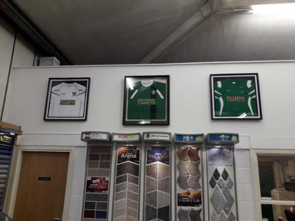 Club Sponsor Britannia Carpets 1874 Northwich F C