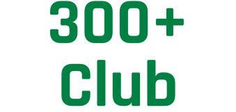 300+ Club Draw – August 2019
